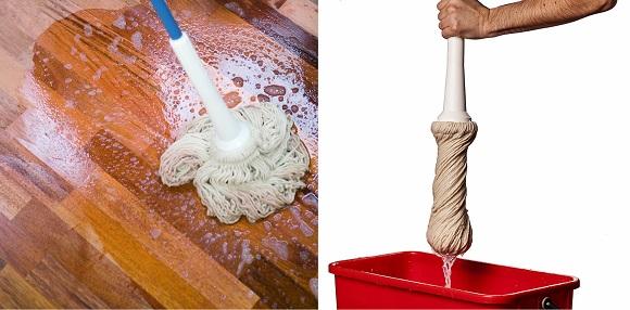 wischmop reinigung pflege f r ge ltes parkett woca. Black Bedroom Furniture Sets. Home Design Ideas