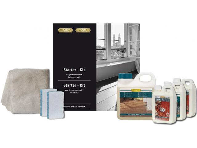 starter kit parkettreiniger parkettpflege f r ge ltes parkett woca onlineshop der holzpunkt ag. Black Bedroom Furniture Sets. Home Design Ideas